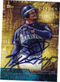 KEN GRIFFEY JR SEATTLE MARINERS AUTOGRAPHED BASEBALL CARD #81415i