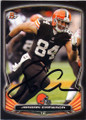 JORDAN CAMERON CLEVELAND BROWNS AUTOGRAPHED FOOTBALL CARD #81815B
