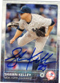 SHAWN KELLEY NEW YORK YANKEES AUTOGRAPHED BASEBALL CARD #81815F