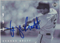 GEORGE BRETT KANSAS CITY ROYALS AUTOGRAPHED BASEBALL CARD #81915A