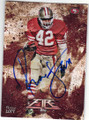 RONNIE LOTT SAN FRANCISCO 49ers AUTOGRAPHED FOOTBALL CARD #82015C