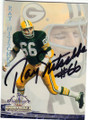 RAY NITSCHKE GREEN BAY PACKERS AUTOGRAPHED FOOTBALL CARD #82015E