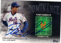 DWIGHT GOODEN NEW YORK METS AUTOGRAPHED BASEBALL CARD #82115A