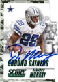 DeMARCO MURRAY DALLAS COWBOYS AUTOGRAPHED FOOTBALL CARD #82115L