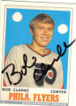 BOB CLARKE PHILADELPHIA FLYERS AUTOGRAPHED HOCKEY CARD #82515B