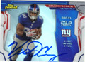 VICTOR CRUZ NEW YORK GIANTS AUTOGRAPHED FOOTBALL CARD #82715H