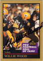 WILLIE WOOD GREEN BAY PACKERS AUTOGRAPHED FOOTBALL CARD #82815F