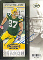 JORDY NELSON GREEN BAY PACKERS AUTOGRAPHED FOOTBALL CARD #82815H