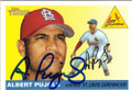ALBERT PUJOLS ST LOUIS CARDINALS AUTOGRAPHED BASEBALL CARD #82915F