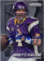 BRETT FAVRE MINNESOTA VIKINGS AUTOGRAPHED FOOTBALL CARD #82915G