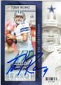 TONY ROMO DALLAS COWBOYS AUTOGRAPHED FOOTBALL CARD #82915J