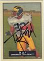 TY LAW MICHIGAN WOLVERINES AUTOGRAPHED FOOTBALL CARD #83115D