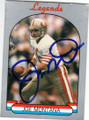 JOE MONTANA SAN FRANCISCO 49ers AUTOGRAPHED FOOTBALL CARD #83115H