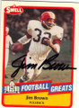 JIM BROWN CLEVELAND BROWNS AUTOGRAPHED FOOTBALL CARD #90115E