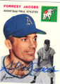 FORREST JACOBS PHILADELPHIA ATHLETICS AUTOGRAPHED BASEBALL CARD #90115F