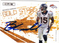 BRANDON MARSHALL DENVER BRONCOS AUTOGRAPHED & NUMBERED FOOTBALL CARD #90315C