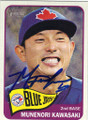 MUNENORI KAWASAKI TORONTO BLUE JAYS AUTOGRAPHED BASEBALL CARD #90415C