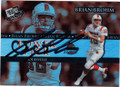 BRIAN BROHM LOUISVILLE CARDINALS AUTOGRAPHED ROOKIE FOOTBALL CARD #90415E