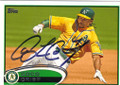 COCO CRISP OAKLAND ATHLETICS AUTOGRAPHED BASEBALL CARD #90415G