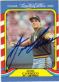 JOSE CANSECO OAKLAND ATHLETICS AUTOGRAPHED VINTAGE BASEBALL CARD #90415i