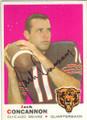 JACK CONCANNON CHICAGO BEARS AUTOGRAPHED VINTAGE FOOTBALL CARD #90515F
