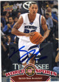 DERRICK ROSE UNIVERSITY OF MEMPHIS AUTOGRAPHED BASKETBALL CARD #90915B