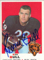 RONNIE BULL CHICAGO BEARS AUTOGRAPHED VINTAGE FOOTBALL CARD #91115C