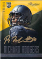 RICHARD RODGERS GREEN BAY PACKERS AUTOGRAPHED ROOKIE FOOTBALL CARD #91115E