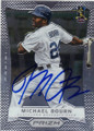 MICHAEL BOURN CLEVELAND INDIANS AUTOGRAPHED BASEBALL CARD #91115G