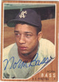 NORM BASS KANSAS CITY ATHLETICS AUTOGRAPHED VINTAGE BASEBALL CARD #91215B