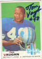 TOM VAUGHN DETROIT LIONS AUTOGRAPHED VINTAGE FOOTBALL CARD #91215J