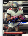 DOUG MARTIN TAMPA BAY BUCCANEERS AUTOGRAPHED FOOTBALL CARD #91415E