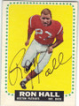 RON HALL BOSTON PATRIOTS AUTOGRAPHED VINTAGE FOOTBALL CARD #91415F