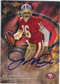 JOE MONTANA SAN FRANCISCO 49ers AUTOGRAPHED FOOTBALL CARD #91515A