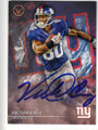 VICTOR CRUZ NEW YORK GIANTS AUTOGRAPHED FOOTBALL CARD #91515C