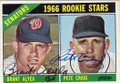 BRANT ALYEA & PETE CRAIG WASHINGTON SENATORS DOUBLE AUTOGRAPHED VINTAGE ROOKIE BASEBALL CARD #91515D