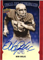 BOB GOLIC UNIVERSITY OF NOTRE DAME AUTOGRAPHED FOOTBALL CARD #91515F