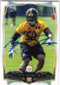 RYAN SHAZIER PITTSBURGH STEELERS AUTOGRAPHED ROOKIE FOOTBALL CARD #91915B