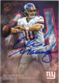 ELI MANNING NEW YORK GIANTS AUTOGRAPHED FOOTBALL CARD #100515F