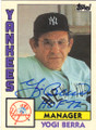 YOGI BERRA NEW YORK YANKEES AUTOGRAPHED VINTAGE BASEBALL CARD #100715B