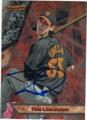 TIM LINCECUM SAN FRANCISCO GIANTS AUTOGRAPHED BASEBALL CARD #100715E