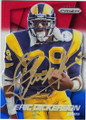 ERIC DICKERSON LOS ANGELES RAMS AUTOGRAPHED FOOTBALL CARD #100815F