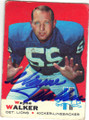 WAYNE WALKER DETROIT LIONS AUTOGRAPHED VINTAGE FOOTBALL CARD #100815H