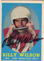 BILLY WILSON SAN FRANCISCO 49ers AUTOGRAPHED VINTAGE FOOTBALL CARD #101215B
