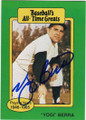 YOGI BERRA NEW YORK YANKEES AUTOGRAPHED VINTAGE BASEBALL CARD #101315D