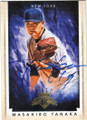 MASAHIRO TANAKA NEW YORK YANKEES AUTOGRAPHED BASEBALL CARD #101315F