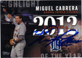 MIGUEL CABRERA DETROIT TIGERS AUTOGRAPHED BASEBALL CARD #101415E