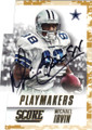 MICHAEL IRVIN DALLAS COWBOYS AUTOGRAPHED FOOTBALL CARD #101515C