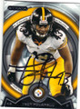 TROY POLAMALU PITTSBURGH STEELERS AUTOGRAPHED FOOTBALL CARD #101615B
