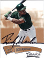 RICKEY HENDERSON OAKLAND ATHLETICS AUTOGRAPHED BASEBALL CARD #101615C